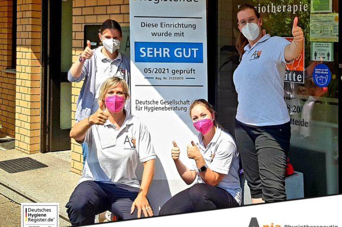 Eintrag im Deutschen Hygiene Register unserer Praxis für Physiotherapie